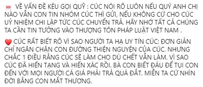 """Giang Kim Cúc dính đủ thứ lùm xùm ăn chặn tiền từ thiện, vừa bị phạt vì đưa tin sai vẫn lên mạng kêu gọi: """"Anh chị nào còn tin thì gửi"""" - Ảnh 4."""