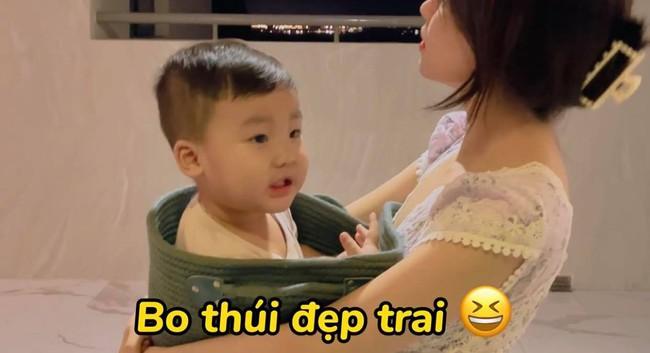 """Rụng tim với loạt câu nói """"như ông cụ non"""" của con trai Hòa Minzy, fan trêu Bo thúi nghiện mẹ đến thế là cùng! - Ảnh 10."""