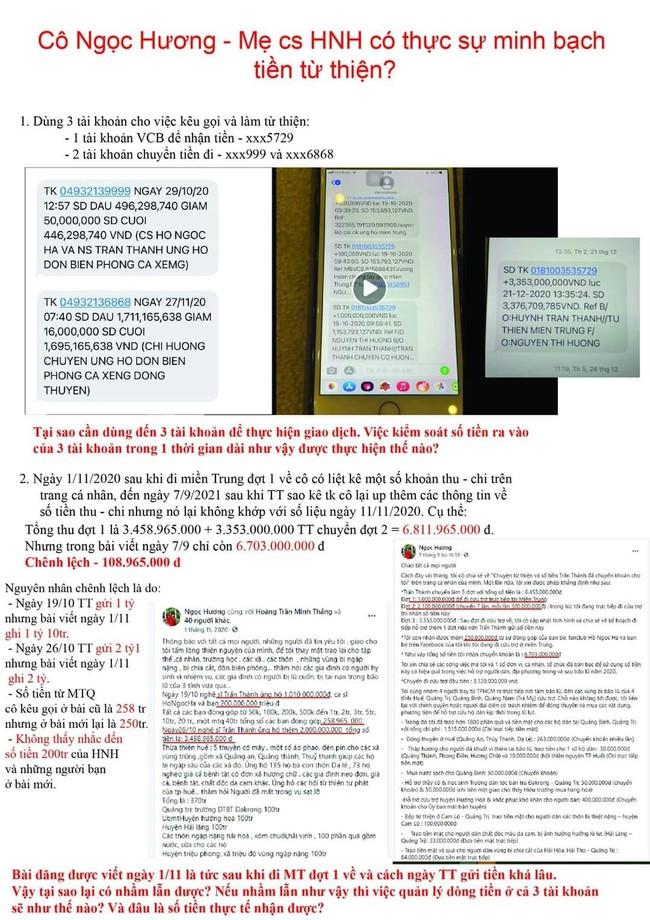 Phát hiện loạt chi tiết nghi vấn trong sao kê từ thiện của mẹ Hồ Ngọc Hà: Dùng 3 số tài khoản luân chuyển tiền, giải ngân chậm 8 tháng? - Ảnh 1.