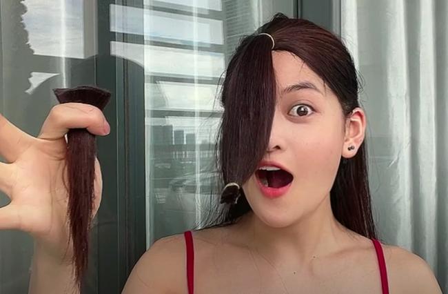 Đu trend Tiktok, Thùy Anh (Tình Yêu Và Tham Vọng) tự cắt tóc layer tại nhà: Cái kết hết hồn nhưng cũng may còn cứu được - Ảnh 7.