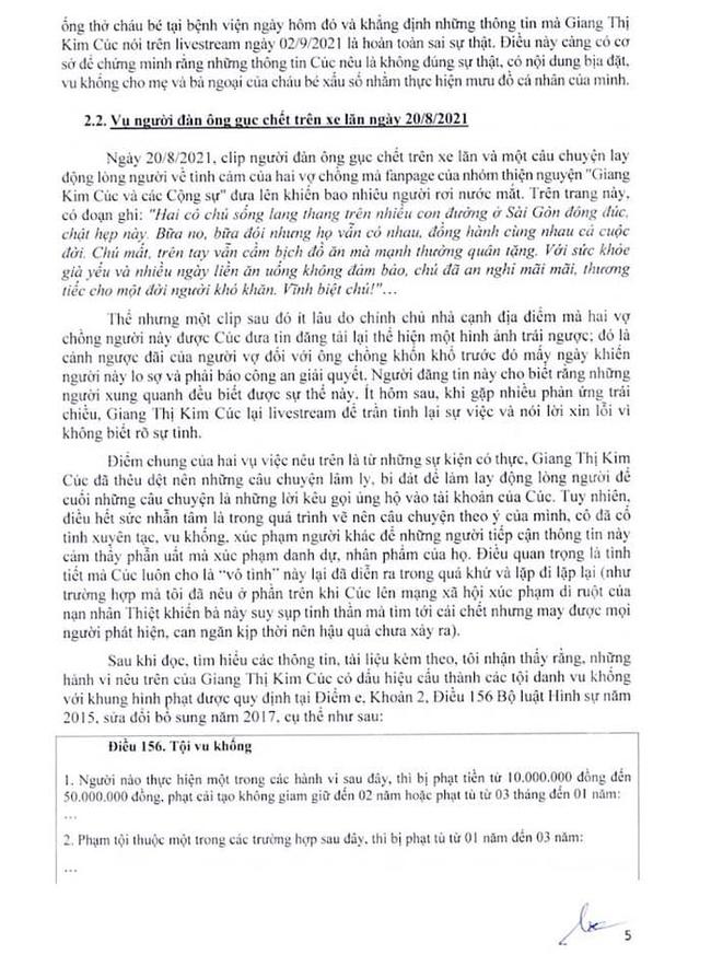 Vụ Giang Kim Cúc: Luật sư công bố 10 trang hồ sơ tố cáo các tội lợi dụng tín nhiệm chiếm đoạt tài sản và tung tin sai sự thật để lừa đảo - Ảnh 4.