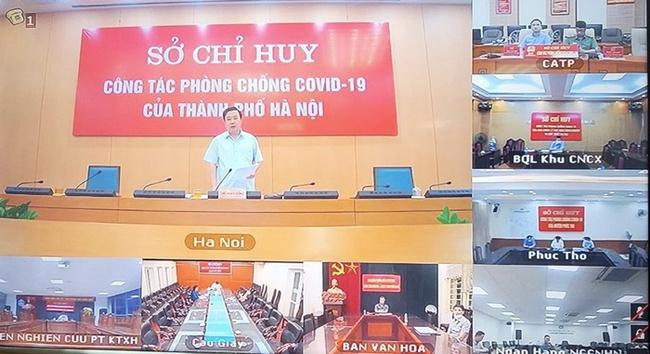 Cuộc hợp giao ban trực tuyến của Hà Nội
