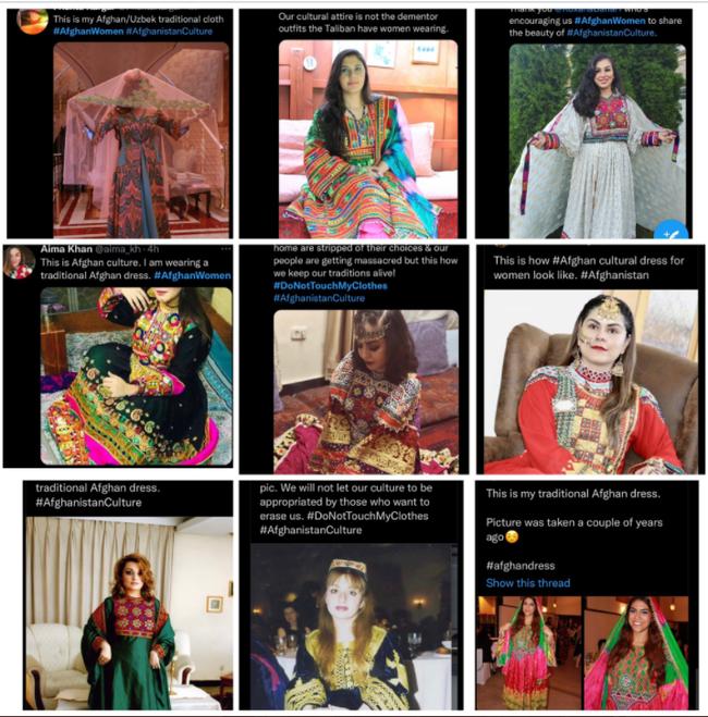 Phụ nữ Afghanistan thách thức Taliban, cùng nhau mặc trang phục truyền thống rực rỡ đang bị lãng quên - Ảnh 3.