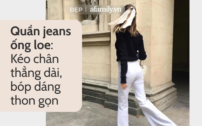 Gái Pháp ghiền jeans: Rõ là không cao nhưng luôn diện đúng 1 kiểu quần kéo chân dài thẳng tắp - Ảnh 2.