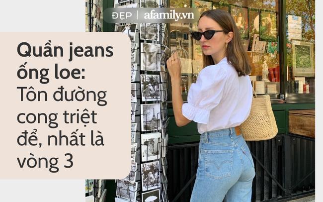 Gái Pháp ghiền jeans: Rõ là không cao nhưng luôn diện đúng 1 kiểu quần kéo chân dài thẳng tắp - Ảnh 1.