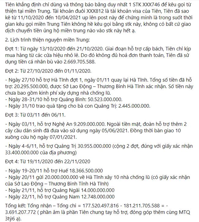 Thủy Tiên lên tiếng giải thích toàn bộ khúc mắc sau buổi nhận sao kê tại ngân hàng - Ảnh 4.