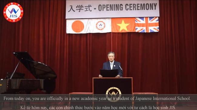 """Xúc động với buổi lễ khai giảng """"không khoảng cách"""" của Trường Quốc tế Nhật Bản - Ảnh 3."""