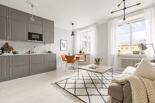 Những mẫu phòng khách đẹp phù hợp với các căn hộ 50m² - Ảnh 7.