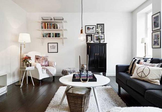 Những mẫu phòng khách đẹp phù hợp với các căn hộ 50m² - Ảnh 17.