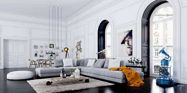 Nếu đang ở chung cư thì đây chính là mẫu phòng khách dành cho nhà bạn đấy - Ảnh 4.