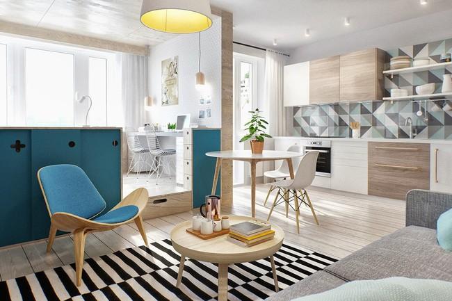 Biến hóa căn hộ nhỏ cũ kỹ trở nên tiện nghi, hiện đại nhờ nội thất thông minh  - Ảnh 1.