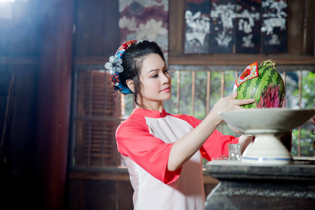 Vừa ra viện, Nhật Kim Anh đã lo gói bánh chưng đón Tết - Ảnh 8.