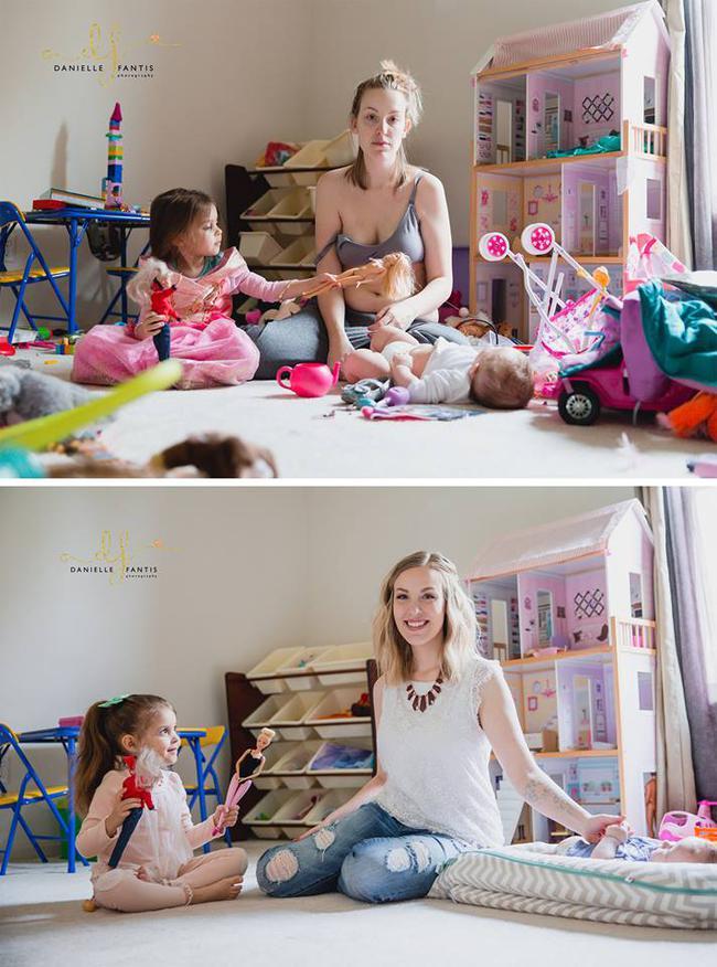 Chỉ với 2 bức ảnh, bà mẹ này đã cho cả thế giới thấy sự thật phũ phàng sau sinh - Ảnh 1.