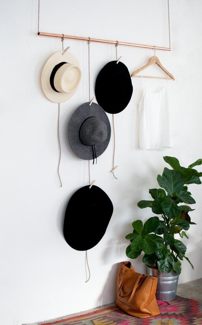 5 kiểu giá treo mũ vừa đa năng, vừa đẹp mắt mà ai cũng có thể làm được - Ảnh 3.