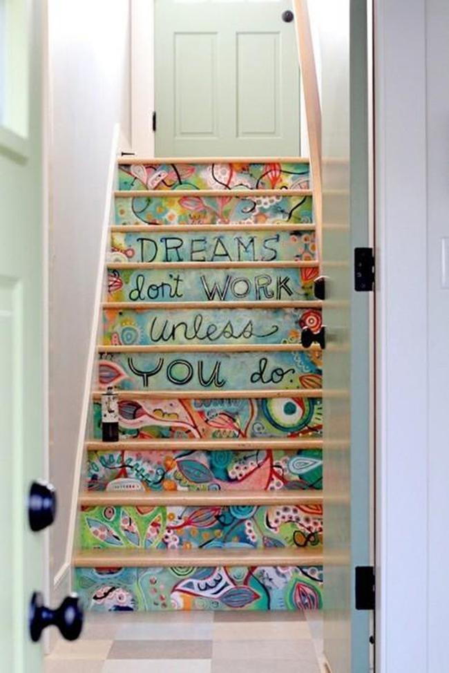 Những ý tưởng tuyệt vời để cầu thang bớt đơn điệu