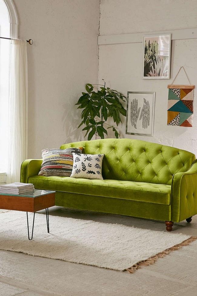 Cách sử dụng màu xanh lá mạ - hot trend của năm nay để trang trí nhà - Ảnh 9.