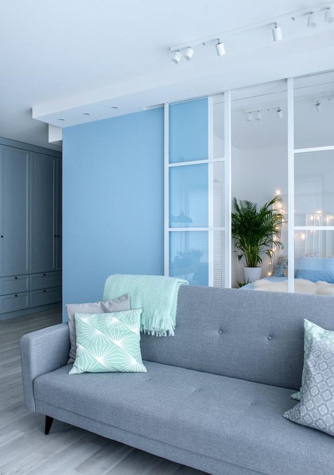 Sử dụng màu xanh pastel làm điểm nhấn cho căn hộ 55m², cô gái cho biết đây là quyết định đúng đắn nhất - Ảnh 3.
