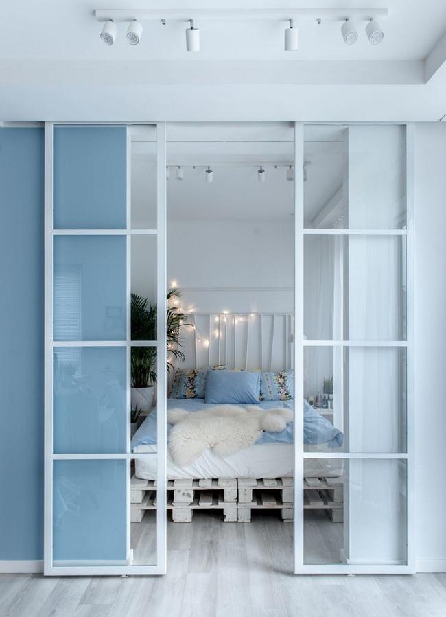 Sử dụng màu xanh pastel làm điểm nhấn cho căn hộ 55m², cô gái cho biết đây là quyết định đúng đắn nhất - Ảnh 4.
