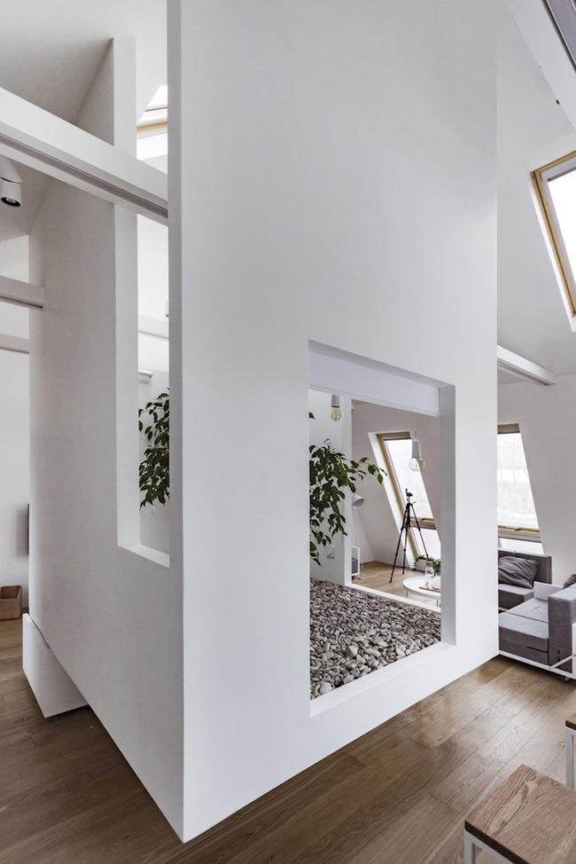 Ấn tượng với ngôi nhà chỉ 48m² nhưng có khoảng xanh cực bắt mắt với phòng khách treo lơ lửng - Ảnh 5.