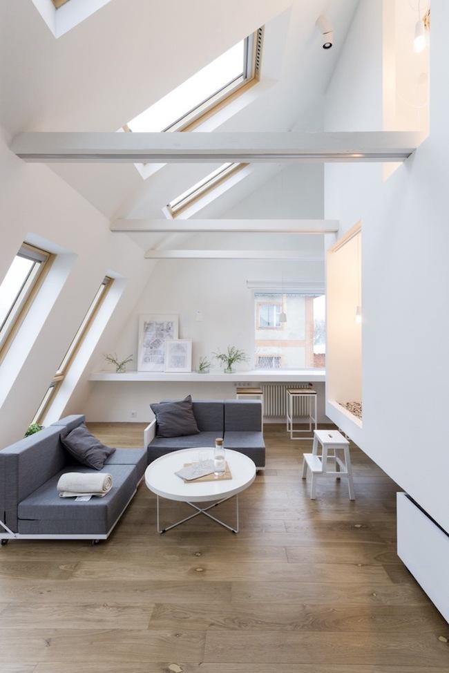 Ấn tượng với ngôi nhà chỉ 48m² nhưng có khoảng xanh cực bắt mắt với phòng khách treo lơ lửng - Ảnh 16.