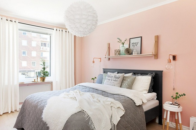 Ngọt ngào như những căn phòng ngủ sơn màu hồng đào - Ảnh 2.