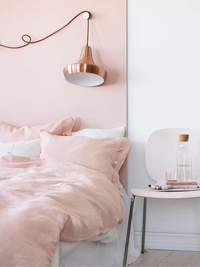 Ngọt ngào như những căn phòng ngủ sơn màu hồng đào - Ảnh 5.