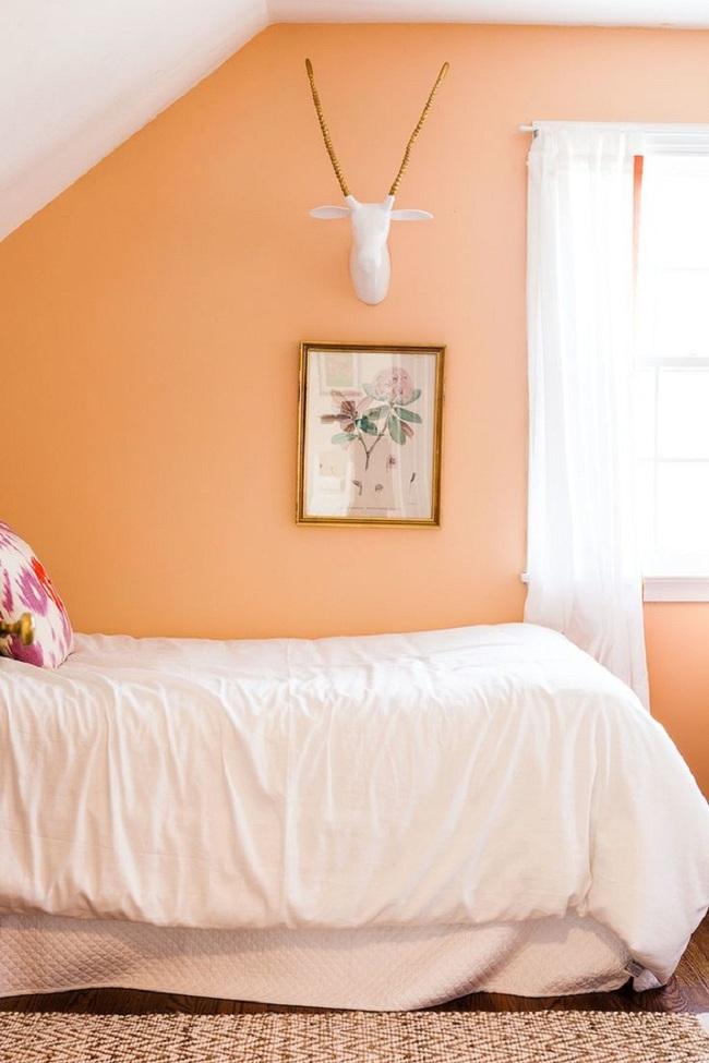 Ngọt ngào như những căn phòng ngủ sơn màu hồng đào - Ảnh 9.