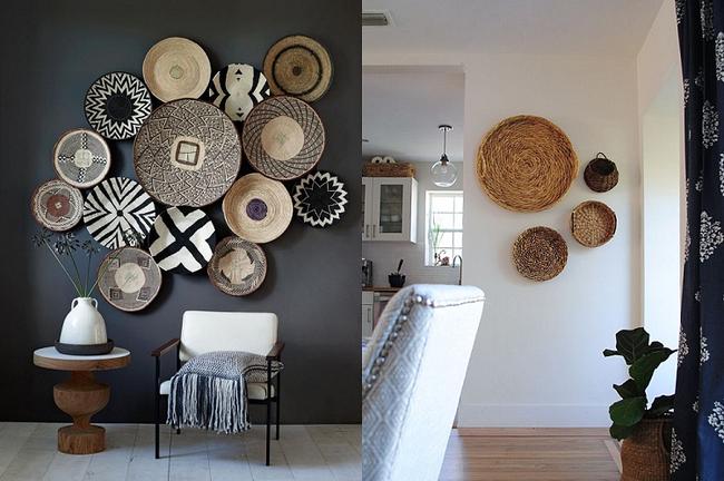Tường nhà bớt nhàm chán với những món đồ trang trí bằng mây tre đan độc đáo - Ảnh 2.