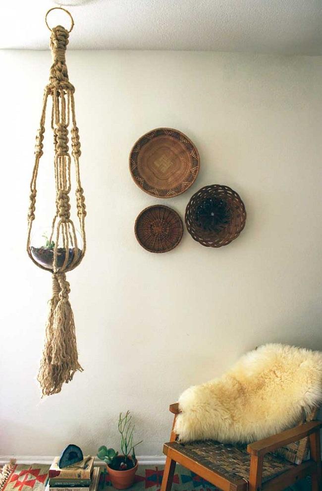 Tường nhà bớt nhàm chán với những món đồ trang trí bằng mây tre đan độc đáo - Ảnh 4.