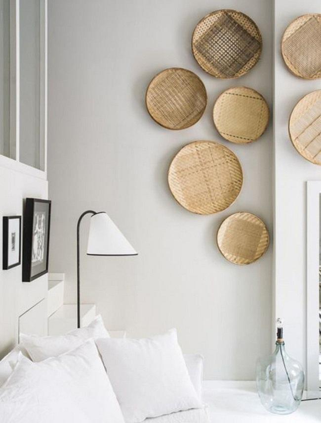 Tường nhà bớt nhàm chán với những món đồ trang trí bằng mây tre đan độc đáo - Ảnh 8.