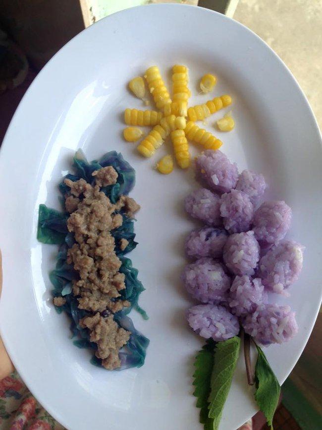 Học lỏm mẹ Việt cách trang trí món ăn dặm cho con đầy màu sắc - Ảnh 4.