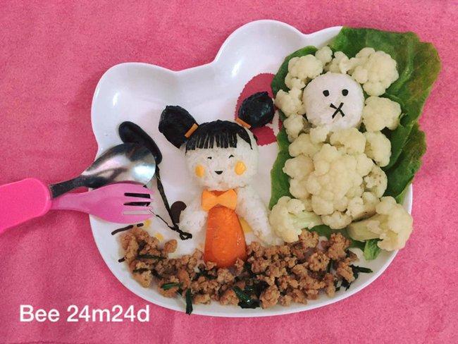 Học lỏm mẹ Việt cách trang trí món ăn dặm cho con đầy màu sắc - Ảnh 34.