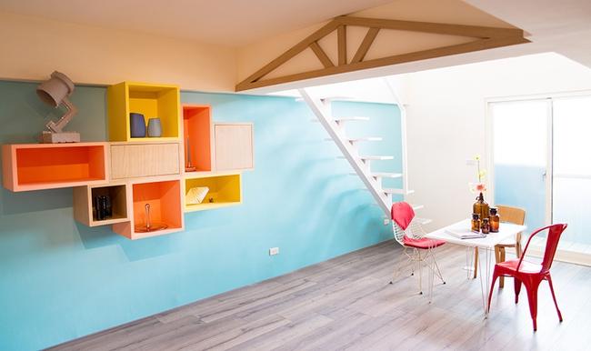 Căn hộ nhỏ được cải tạo thêm gác xép chuẩn không cần chỉnh cho vợ chồng trẻ - Ảnh 1.