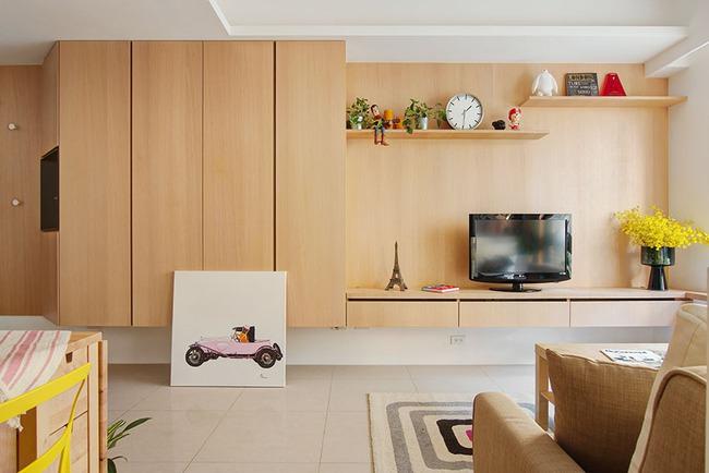 Căn hộ 50m² với cách bố trí các khu vực chức năng rất linh hoạt, đảm bảo không gian sống tự do cho mỗi người - Ảnh 2.
