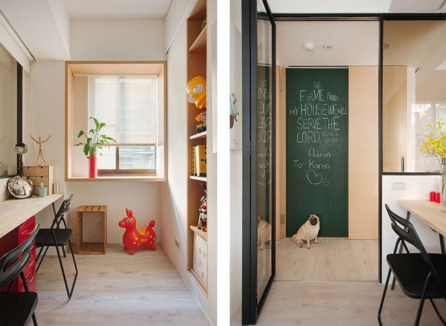 Căn hộ 50m² với cách bố trí các khu vực chức năng rất linh hoạt, đảm bảo không gian sống tự do cho mỗi người - Ảnh 6.