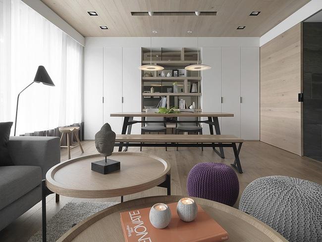 Ngỡ ngàng với cách chọn màu trung tính khiến căn hộ nhỏ trở nên đẹp thanh lịch và cá tính - Ảnh 6.
