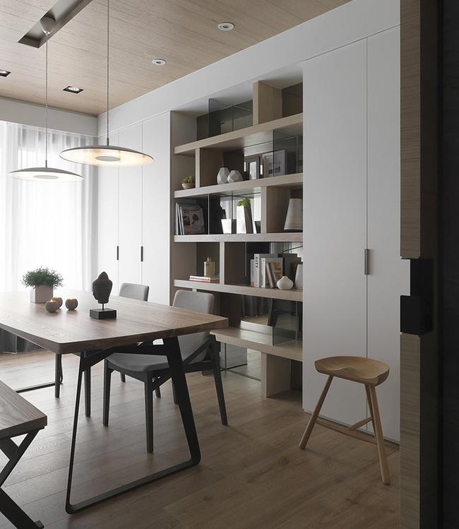 Ngỡ ngàng với cách chọn màu trung tính khiến căn hộ nhỏ trở nên đẹp thanh lịch và cá tính - Ảnh 7.