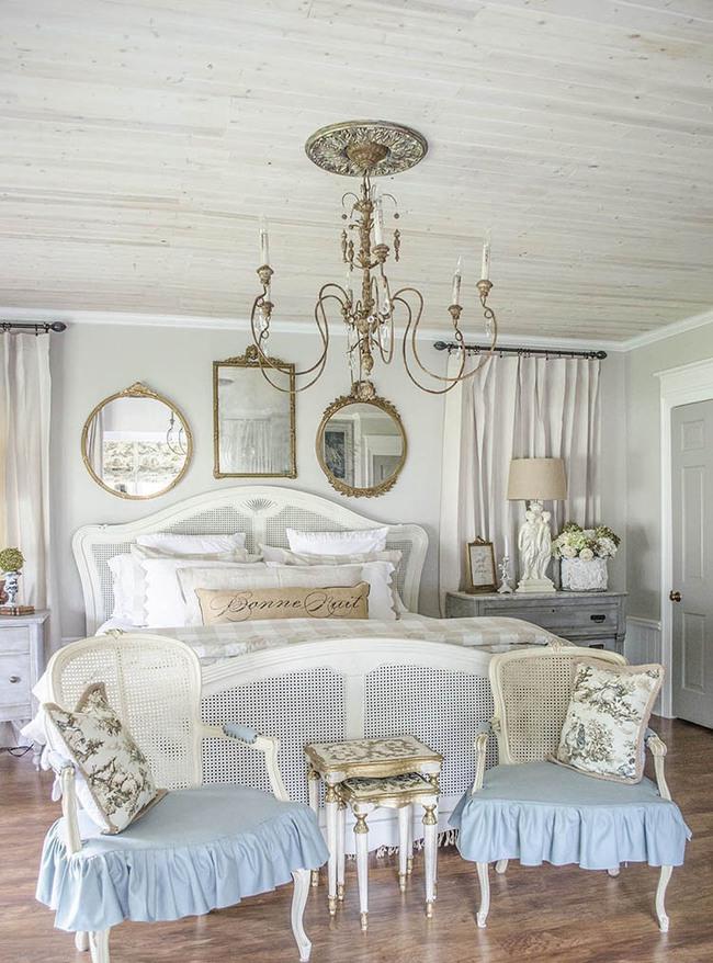 10 mẹo tạo phòng ngủ phong cách đồng quê Pháp tuyệt vời nhất - Ảnh 11.