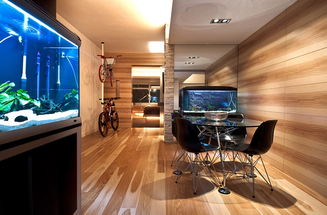 Ghé thăm căn hộ cao cấp vô cùng sang chảnh với sự kết hợp hài hoà giữa gỗ và ánh sáng - Ảnh 3.