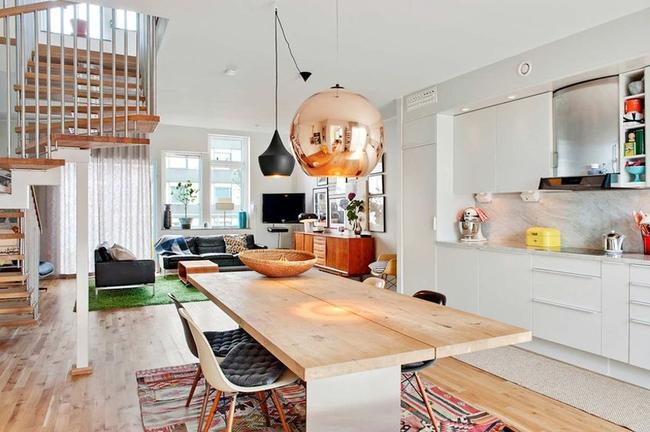 Căn hộ hai tầng đẹp tinh tế và hiện đại với phong cách tối giản - Ảnh 2.