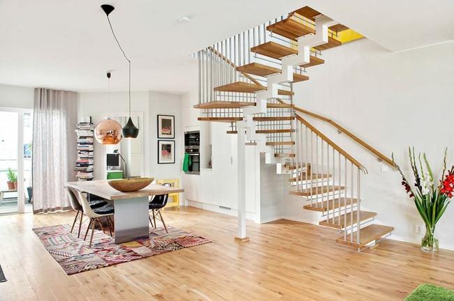 Căn hộ hai tầng đẹp tinh tế và hiện đại với phong cách tối giản - Ảnh 4.