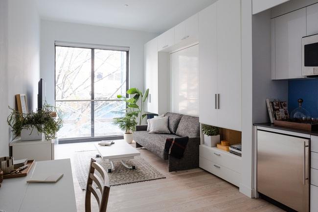 Căn hộ chung cư có diện tích chỉ khoảng 16m² nhưng không thiếu một khu vực chức năng nào mà lại còn đẹp đến ngẩn ngơ - Ảnh 3.