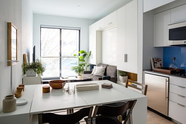 Căn hộ chung cư có diện tích chỉ khoảng 16m² nhưng không thiếu một khu vực chức năng nào mà lại còn đẹp đến ngẩn ngơ - Ảnh 4.