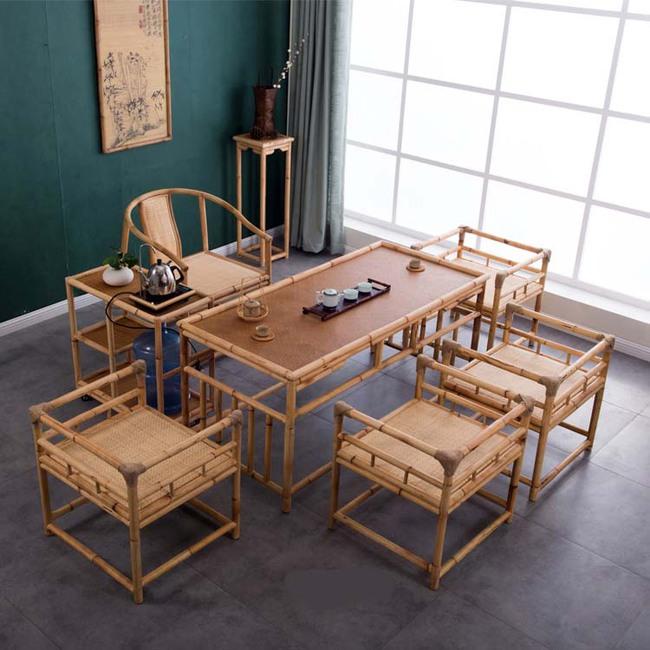 Ngắm nhìn những bộ bàn ghế với chất liệu mây tre đan quen thuộc nhưng đẹp đến bất ngờ - Ảnh 4.