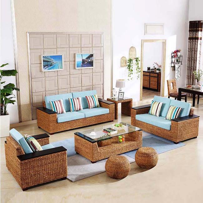 Ngắm nhìn những bộ bàn ghế với chất liệu mây tre đan quen thuộc nhưng đẹp đến bất ngờ - Ảnh 9.