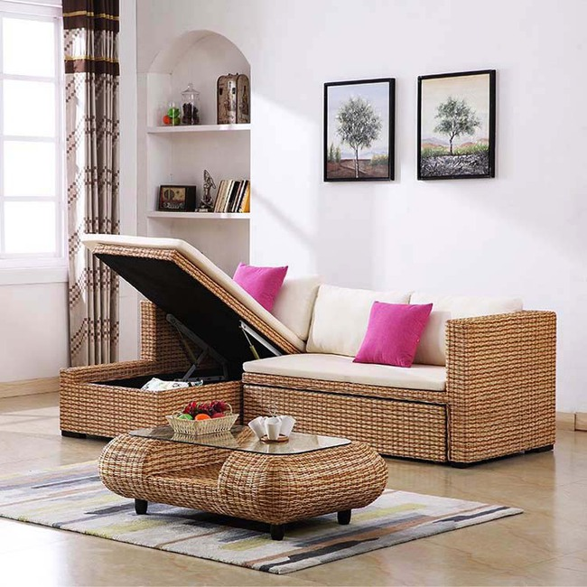 Ngắm nhìn những bộ bàn ghế với chất liệu mây tre đan quen thuộc nhưng đẹp đến bất ngờ - Ảnh 11.