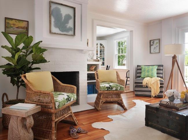 Ngắm nhìn những bộ bàn ghế với chất liệu mây tre đan quen thuộc nhưng đẹp đến bất ngờ - Ảnh 12.