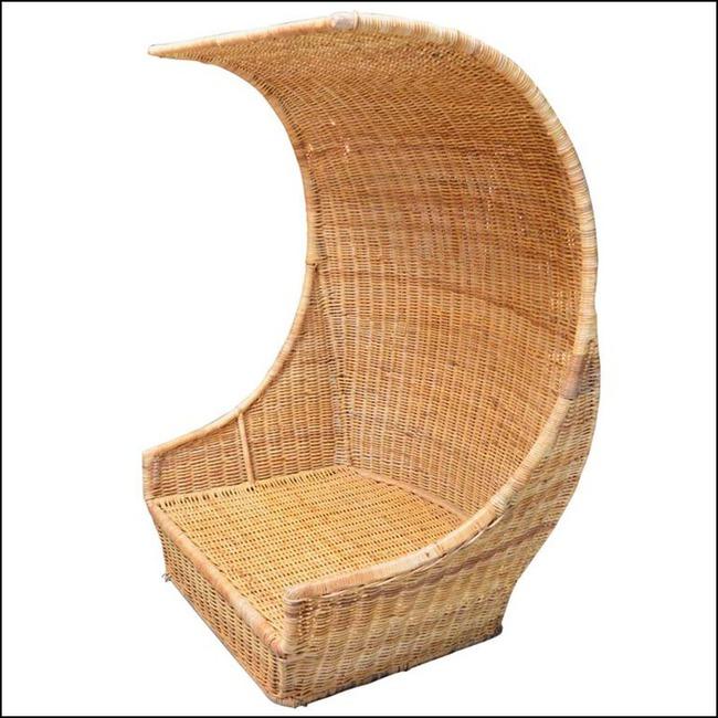 10 mẫu ghế thư giãn bằng chất liệu mây tre đan đẹp kinh điển của những thập niên trước - Ảnh 8.