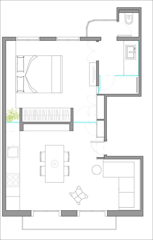 Sở hữu căn hộ nhỏ tuyệt vời như thế này thì cần gì nhà rộng làm chi cho mệt - Ảnh 1.