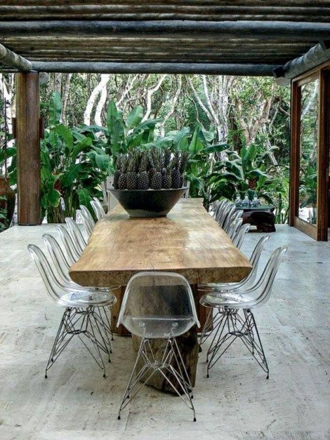 24 mẫu bàn ghế xinh yêu cho khu vực ăn uống và nghỉ ngơi ngoài trời - Ảnh 8.